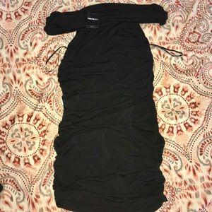 Off the Shoulder Ruched Dress